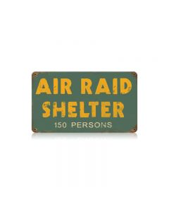 Air Raid Shelter Vintage Sign, Military, Metal Sign, Wall Art, 14 X 8 Inches