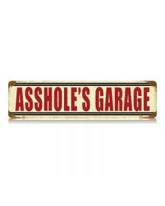 Asshole'S Garage Vintage Sign, Transportation, Metal Sign, Wall Art, 20 X 5 Inches