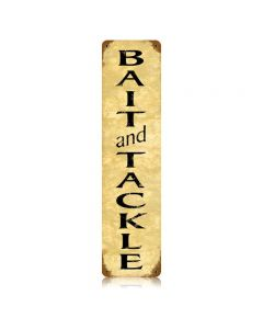 Bait And Tackle Vintage Sign, Humor, Metal Sign, Wall Art, 5 X 20 Inches