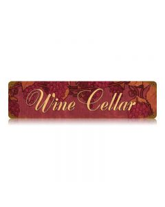 Wine Cellar Vintage Sign, Bar and Alcohol , Metal Signs, Wall Art, 20 X 5 Inches