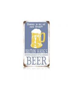 Briton Beer Vintage Sign, Man Cave, Metal Sign, Wall Art, 8 X 14 Inches