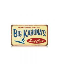 Big Kahuna Vintage Sign, Humor, Metal Sign, Wall Art, 14 X 8 Inches