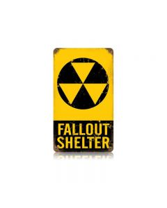 Fallout Shelter Vintage Sign, Military, Metal Sign, Wall Art, 8 X 14 Inches