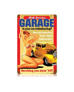 Full Service Garage Vintage Sign, Transportation, Metal Sign, Wall Art, 12 X 18 Inches