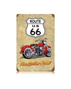 Mother Road Vintage Sign, Transportation, Metal Sign, Wall Art, 12 X 18 Inches