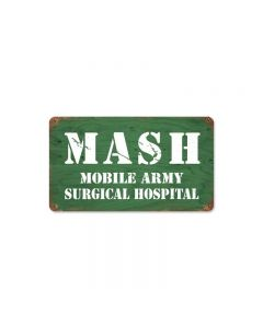 Mash Vintage Sign, Military, Metal Sign, Wall Art, 14 X 8 Inches