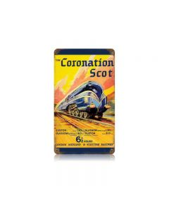 Coronation Train Vintage Sign, Trains, Metal Sign, Wall Art, 8 X 14 Inches