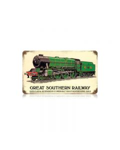 Great Southern Railway Vintage Sign, Trains, Metal Sign, Wall Art, 14 X 8 Inches