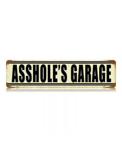 Asshole'S Garage Vintage Signs, Transportation, Metal Sign, Wall Art, 20 X 5 Inches