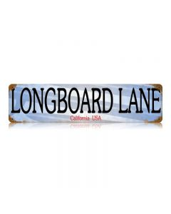Longboard Lane Vintage Sign, Transportation, Metal Sign, Wall Art, 20 X 5 Inches