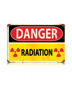 Danger Radiation Vintage Sign, Military, Metal Sign, Wall Art, 18 X 12 Inches