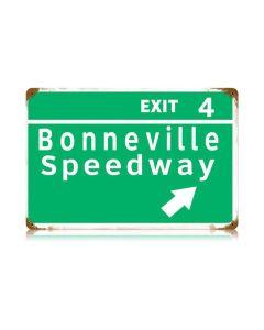 Bonneville Speedway Vintage Sign, Transportation, Metal Sign, Wall Art, 18 X 12 Inches