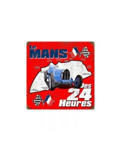 Le Mans Vintage Sign, Transportation, Metal Sign, Wall Art, 12 X 12 Inches