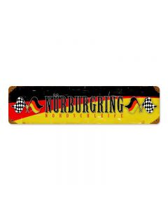 Nurburing Vintage Sign, Transportation, Metal Sign, Wall Art, 20 X 5 Inches