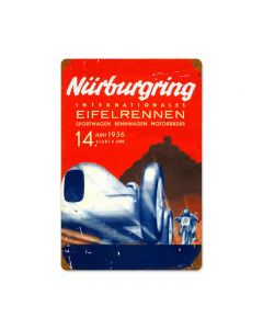 Nurburgring Vintage Sign, Transportation, Metal Sign, Wall Art, 18 X 12 Inches