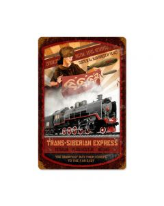 Trans Siberian Express Vintage Sign, Transportation, Metal Sign, Wall Art, 18 X 12 Inches