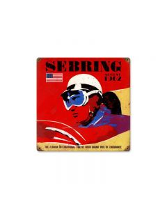 Sebring Vintage Sign, Transportation, Metal Sign, Wall Art, 12 X 12 Inches