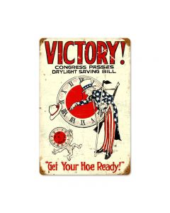 Daylight Victory Vintage Sign, Military, Metal Sign, Wall Art, 18 X 12 Inches