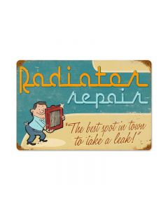 Radiator Repair Vintage Sign, Transportation, Metal Sign, Wall Art, 18 X 12 Inches