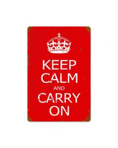 Keep Calm Vintage Sign, Military, Metal Sign, Wall Art, 18 X 12 Inches