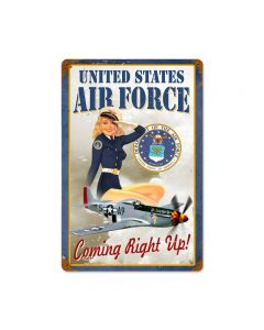 Us Air Force Girl Vintage Sign, Military, Metal Sign, Wall Art, 18 X 12 Inches