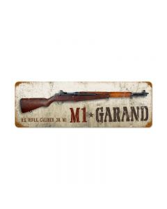M1 Garand Vintage Sign, Military, Metal Sign, Wall Art, 24 X 8 Inches