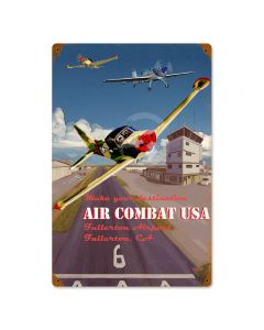 Air Combat, Other, Metal Sign, Wall Art, 12 X 18 Inches
