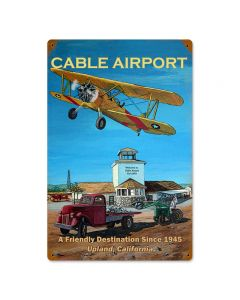 Cable Airport, Other, Metal Sign, Wall Art, 12 X 18 Inches