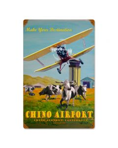 Chino Airport, Other, Metal Sign, Wall Art, 12 X 18 Inches