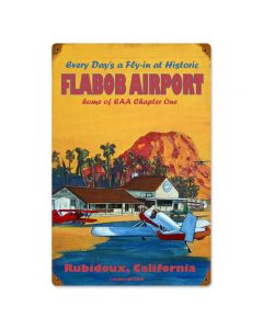 Flabob Airport, Other, Metal Sign, Wall Art, 12 X 18 Inches