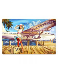 Sea Plane, Other, Metal Sign, Wall Art, 18 X 12 Inches
