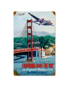 California Leads, Other, Metal Sign, Wall Art, 12 X 18 Inches
