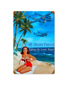 Shore Patrol, Other, Metal Sign, Wall Art, 12 X 18 Inches