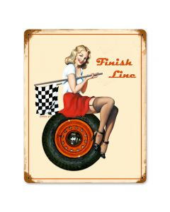 Finish Line, Other, Metal Sign, Wall Art, 12 X 15 Inches