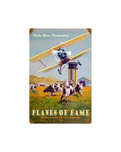 Planes Of Fame, Other, Metal Sign, Wall Art, 12 X 18 Inches