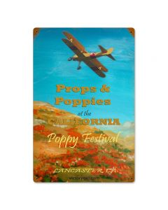 Poppy Festival, Other, Metal Sign, Wall Art, 12 X 18 Inches