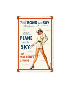 War Bonds, Other, Metal Sign, Wall Art, 12 X 18 Inches