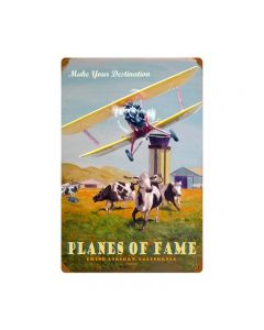 Planes Of Fame, Other, Metal Sign, Wall Art, 16 X 24 Inches