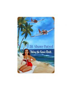 Shore Patrol, Other, Metal Signs, Wall Art, 12 X 18 Inches