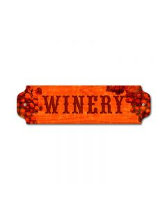 Winery Vintage Sign, Bar and Alcohol , Metal Sign, Wall Art, 12 X 3 Inches