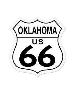 Oklahoma Route 66 Vintage Sign, Street Signs, Metal Sign, Wall Art, 28 X 28 Inches