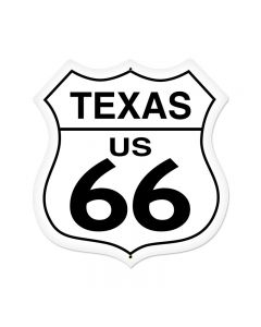 Texas Route 66 Vintage Sign, Street Signs, Metal Sign, Wall Art, 28 X 28 Inches