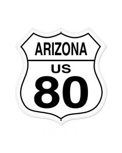 Arizona Route 80 Vintage Sign, Street Signs, Metal Sign, Wall Art, 28 X 28 Inches
