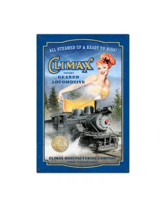 Climax Vintage Sign, Trains, Metal Sign, Wall Art, 24 X 36 Inches