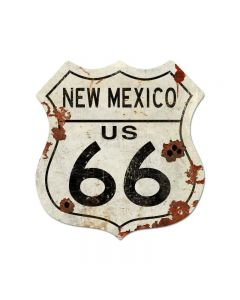Route New Mexico Us 66 Vintage Sign, Street Signs, Metal Sign, Wall Art, 40 X 42 Inches