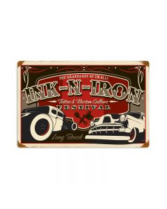 Long Beach Festival, Automotive, Vintage Metal Sign, 18 X 12 Inches