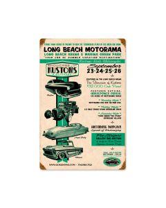 Long Beach Motorama, Automotive, Vintage Metal Sign, 12 X 18 Inches
