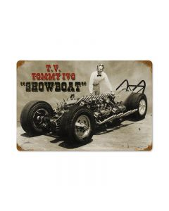 Ivo Show Boat, Automotive, Vintage Metal Sign, 18 X 12 Inches