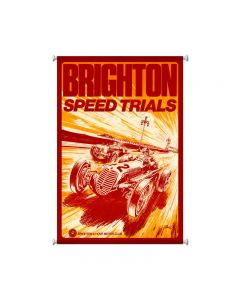 Brighton Speed Trials, Automotive, Giclee Printed Canvas, 25 X 38 Inches