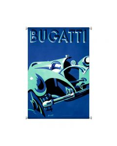 Bugatti Blue, Automotive, Giclee Printed Canvas, 25 X 38 Inches
